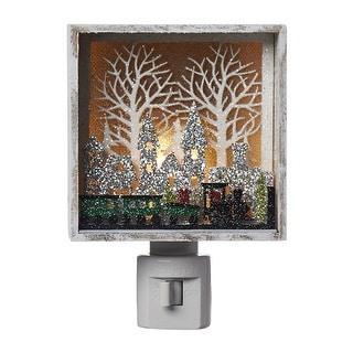 "Roman 160161ACE Christmas Papercut Train Night Light Decoration, Multicolored, 5.5"""