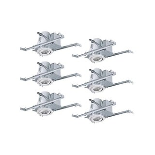 Canarm RN4NC2TG-6 Medium (E26) Adjustable Recessed Trim and New Construction Housing - Pack of 6