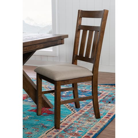 Chester 18-inch Rustic Farmhouse Dining Chair (Set of 2)