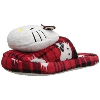 Sanrio Womens Hello Kitty Plush Mule Slippers - 5/6