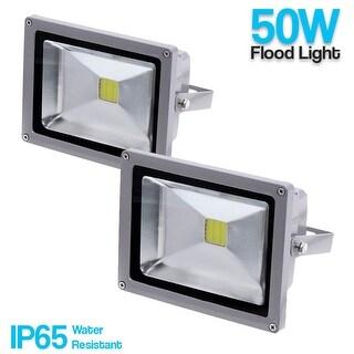 eTopLighting 2 Pack Flood Wash Security Landscape Light LED Indoor Outdoor Water Resistant