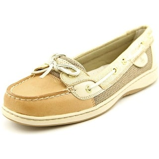 Sperry Top Sider Angelfish Women Moc Toe Leather Gold Boat Shoe