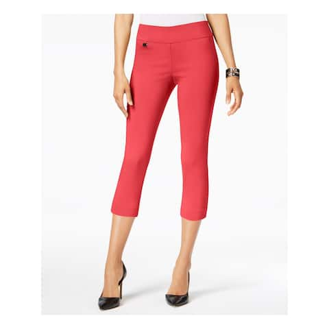 ALFANI Womens Coral Capri Wear To Work Pants Size 14