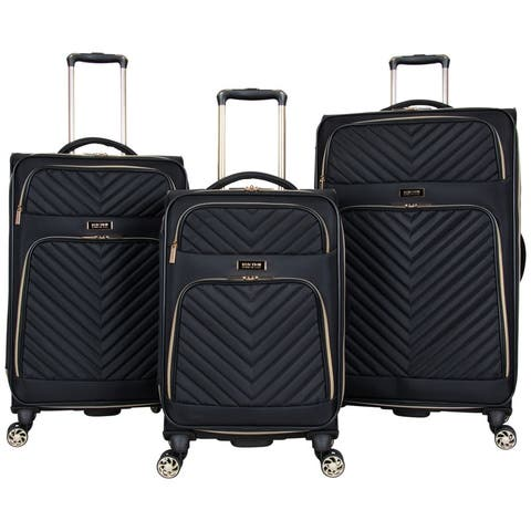 Kenneth Cole Reaction 'Chelsea' 3-Piece Chevron Quilted Expandable 8-Wheel Spinner Luggage Set (20in/24in/28in Set)