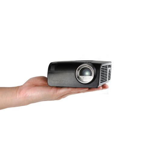 AAXA S2 Pico Projector - USB C Direct Mirroring, 6 Hour Battery, 720p HD Native Resolution, Onboard Player, HDMI, 400 Lumen, DLP
