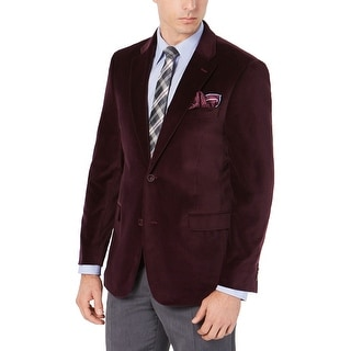 Link to Tommy Hilfiger Mens Modern-Fit TH Flex Stretch Velvet Sportcoat 38 Long Wine Similar Items in Sportcoats & Blazers