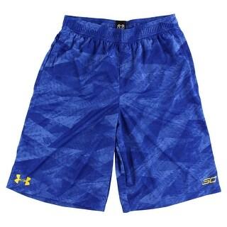 Under Armour Boys SC30 Essentials Shorts Royal Blue - royal blue/yellow