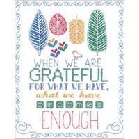 """8""""X10"""" Stitched In Floss - Grateful Stamped Embroidery Kit"""