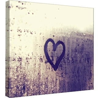 """PTM Images 9-99010  PTM Canvas Collection 12"""" x 12"""" - """"Heart on A Window"""" Giclee Hearts Art Print on Canvas"""