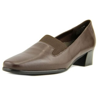 David Tate Lido Women W Square Toe Leather Brown Loafer