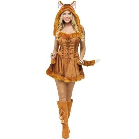 Fun World Sexy Foxy Lady Adult Costume - Brown