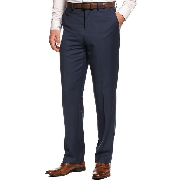 MICHAEL Michael Kors Mens Dress Pants Twill Flat Front