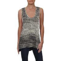 Lucky Brand Womens Tank Top Sweater Knit Marled