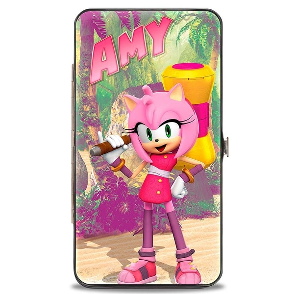 Sonic Boom Sonic Boom Amy W Hammer + Standing Poses Logo Hinged Wallet - One Size Fits most