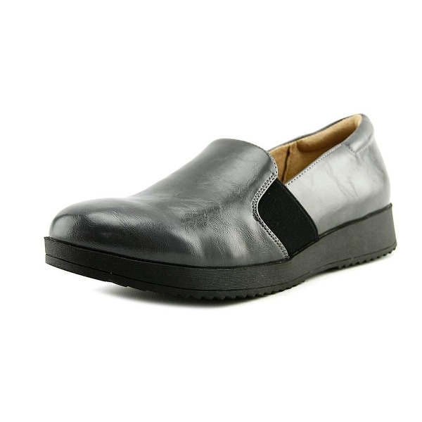 Naturalizer Suma Women Round Toe Leather Gray Loafer