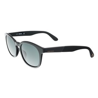 Diesel DL0190 01N Black Round Sunglasses - 52-19-145