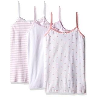 Trimfit Girls 2-16 Bow Print Camisoles 3-Pack - Multi
