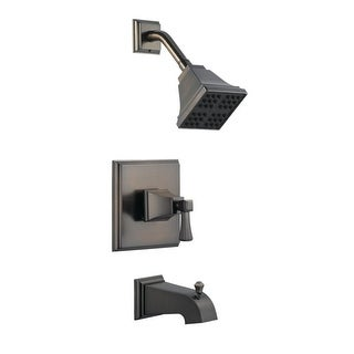 Design House 522037  Single Handle Pressure Balanced Tub and Shower Valve Trim with Single Function Shower Head from the Torino