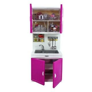 Envo Toys Kitchen Play Set Barbie Size Battery Operated Toy Kichen