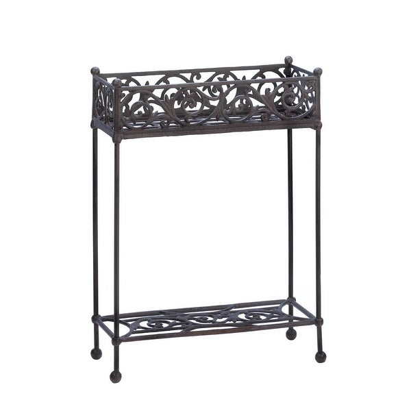 Interior Cast Iron Plant Stand - Two-Tier