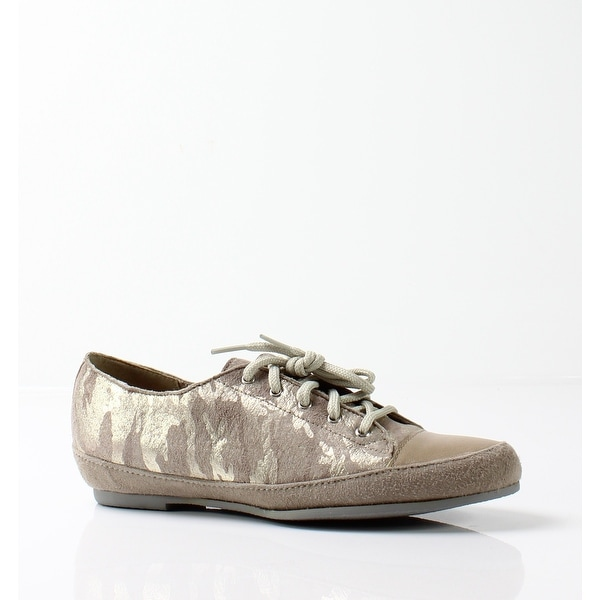 Munro NEW Beige Women's Shoes Size 7SS Petra Camo Suede Sneaker