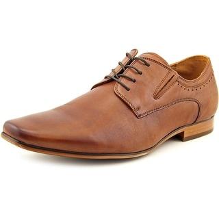 Aldo Galesien Men Square Toe Leather Tan Oxford
