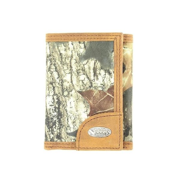 Nocona Western Wallet Mens Trifold Mossy Oak Camo Brown - One size