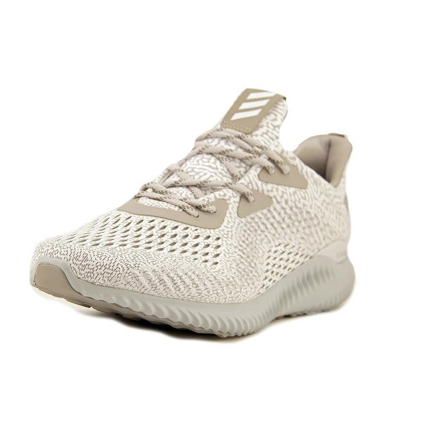 c0a0606af0a25 Shop Adidas Alphabounce AMS Men Round Toe Canvas White Running Shoe ...