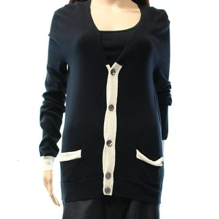 Marc by Marc Jacobs NEW BlackWomen XS Buttoned Cardigan Silk Sweater