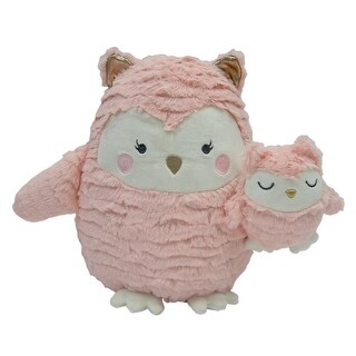 Lambs & Ivy Pink Woodland Couture Plush Owls - Olivia & Olive