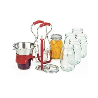 Progessive 3-Piece Premium Kitchen Perserving Canning Kit, Red - CLEAR