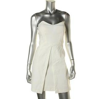 Teeze Me Womens Juniors Clubwear Dress Strapless A-Line