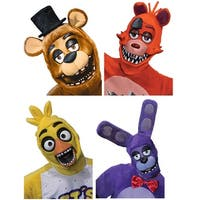 Five Nights at Freddy's Adult Costume 3/4 Masks: Freddy, Foxy, Chica, Bonnie - Multi