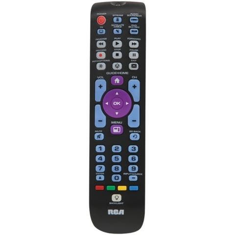 RCA RCRN05BHE 5-Device Backlit Universal Remote with Streaming