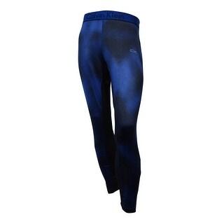 Calvin Klein Men's Mixed-Media Compression Pants (Mazarine Blue, XL)