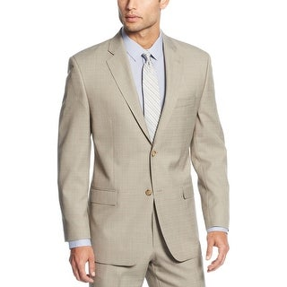 Sean John Regular Fit Taupe Patterned 2-Button Sportcoat Blazer 40 Long 40L