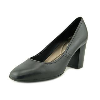 Easy Spirit Arissa Women Round Toe Leather Black Heels