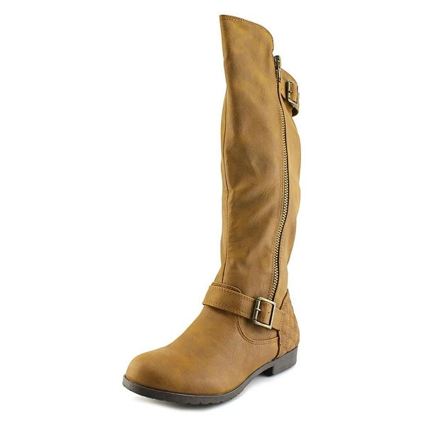 Material Girl Larisa Women Round Toe Synthetic Brown Knee High Boot