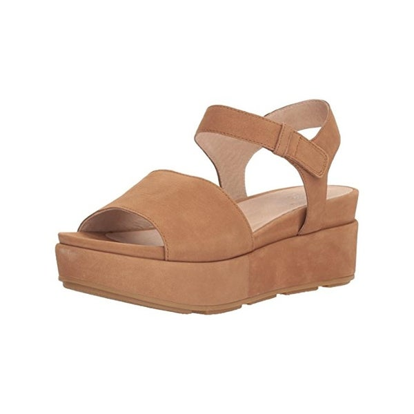 7ff26fe08 Shop Eileen Fisher Womens Jasper Flatform Sandals Nubuck Open Toe ...