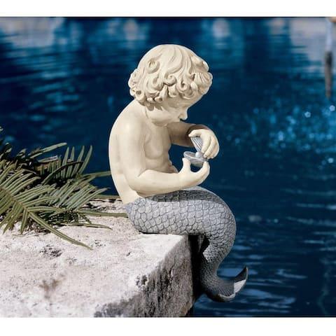 Oceans Little Treasures Merman Statue