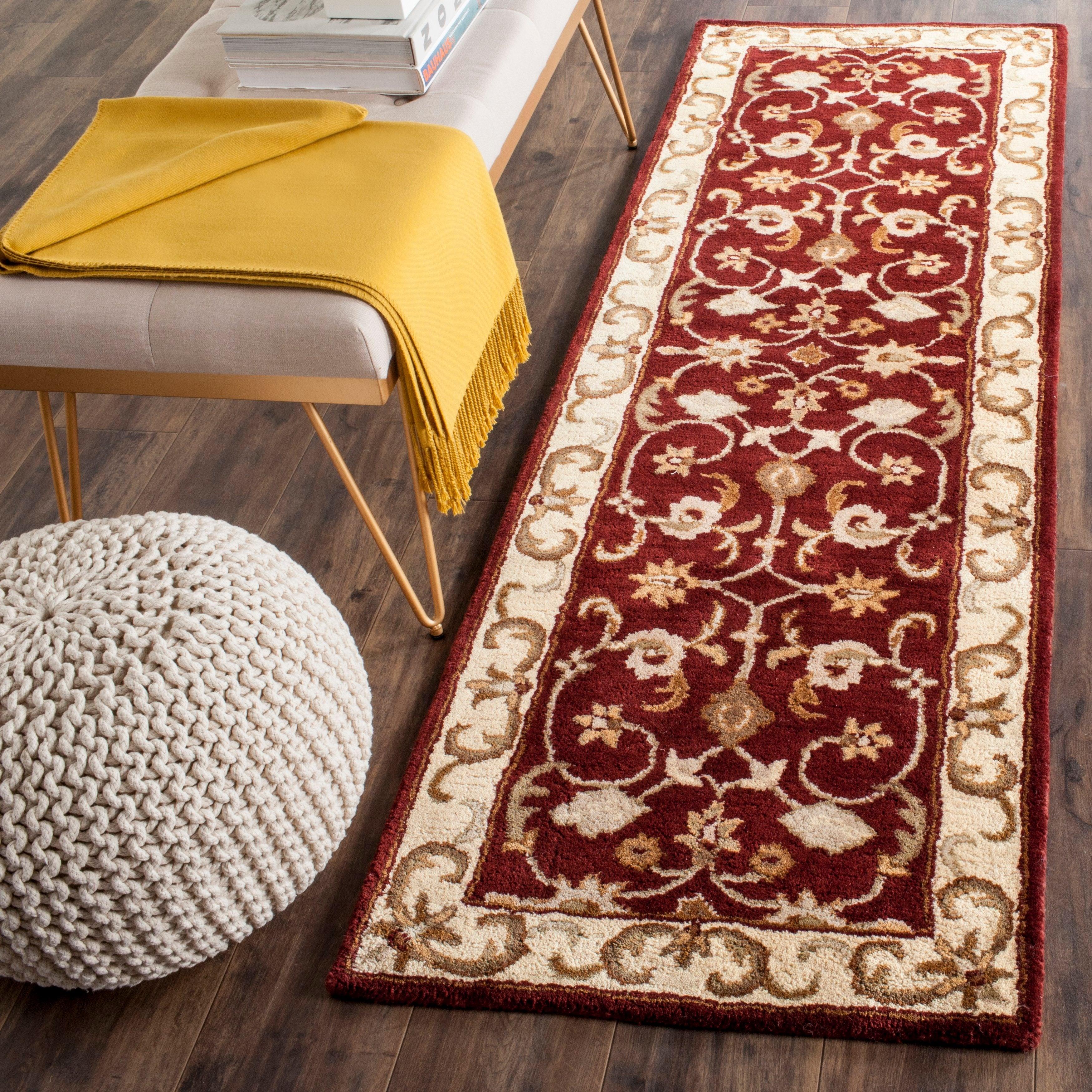 Safavieh Handmade Royalty Red Ivory Wool Rug On Sale Overstock 7502213