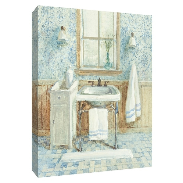 """PTM Images 9-154787 PTM Canvas Collection 10"""" x 8"""" - """"Victorian Sink I"""" Giclee Bathroom Art Print on Canvas"""