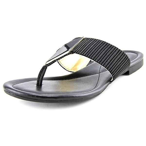 Alfani Womens Hannaah Snakeskin Open Toe Casual Slide Sandals