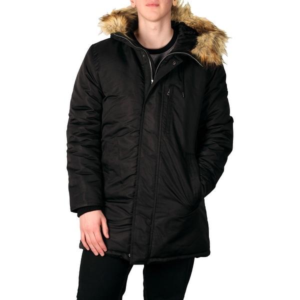 625f2dd96a165 Shop Sean John Men s Hooded Parka with Faux Fur Trim - Free Shipping ...