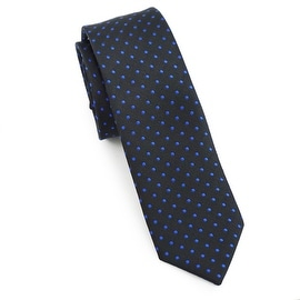 Black and Blue Polka Dot Tie