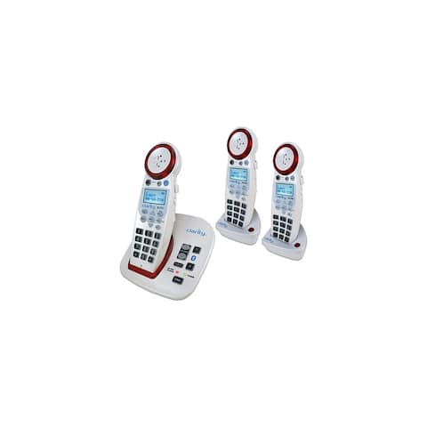 Clarity 59364.001 XLC7BT Amplified Cordless Phone with (2) Expandable XLC7HS Handsets