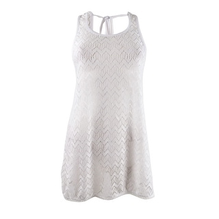 Miken Women's Crocheted Dress Swim Cover-Up