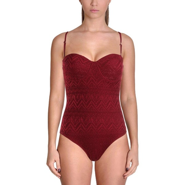 03c459445bd59 Shop TiniBikini Womens Lace Cut-Out One-Piece Swimsuit - S - Free ...