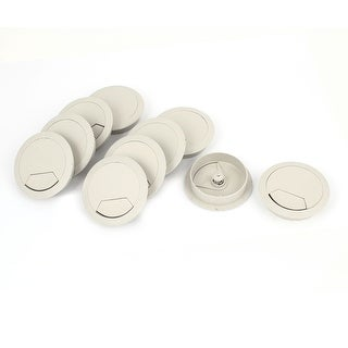 Unique Bargains 10 Pcs Office Computer Desk Wire Cable Hole Covers Plastic Grommets 60mm Gray