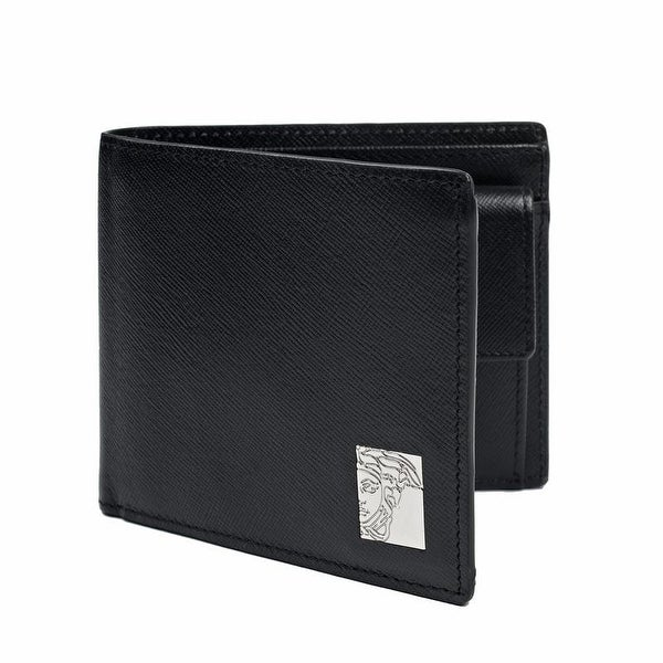Versace Collection Black Leather Medusa Wallet - L